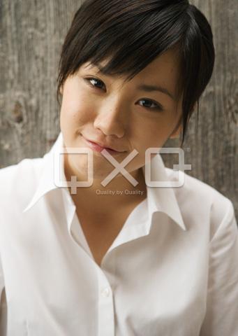 女子高生の微笑み