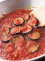 ナスとトマトのソース