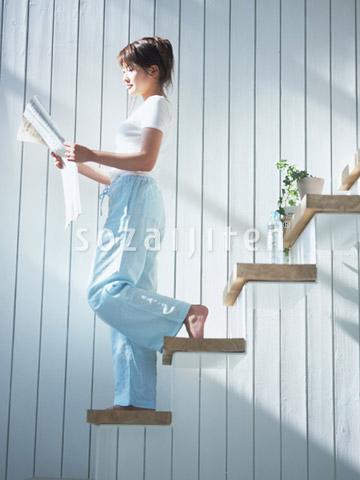 階段を降りる女性 ▼この写真素材が収録されている素材集  階段を降りる女性