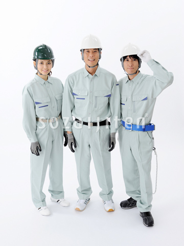 3人の建設作業員 - KN138.jpg - ...