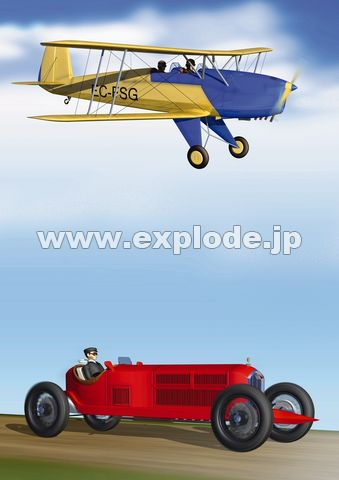 飛行機と自動車