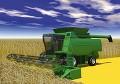 収穫トラクター
