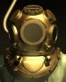 潜水服のヘルメット