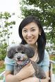 犬と日本人女性
