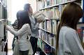 図書館の日本人大学生