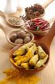 赤唐辛子と白胡椒とウコンとナツメグとニンニク