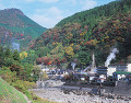 杖立温泉の湯煙(熊本県)
