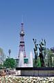 花フェスタの大通公園とさっぽろテレビ塔