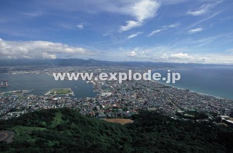 函館山からの市街地