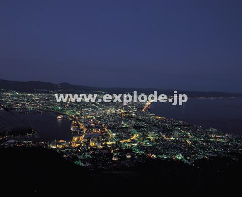 函館山からの夜の市街地