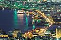 夜の函館港と摩周丸