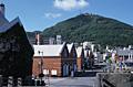 金森倉庫と函館山
