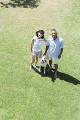 シニア夫婦と犬
