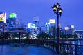 福博であい橋と中洲の街並