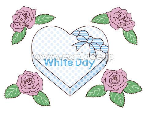 ホワイトデーのプレゼントとバラ