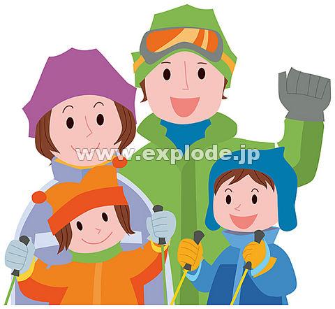 スキーをする家族 ▼この写真素材が収録されている素材集  スキーをする家族