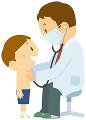 健康診断を受ける男の子