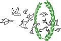 月桂冠と鳩