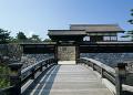 松代城跡の橋と石垣