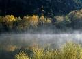 霧に包まれた木戸池