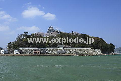 唐津城と海