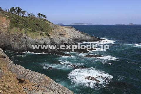 七ツ釜付近の海岸