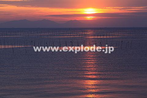 有明海の朝焼け