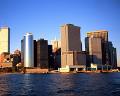 ニューヨーク 青空 マンハッタン島 海 高層ビル ワールド・トレード・セ