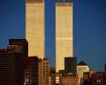ニューヨーク 青空 マンハッタン島 高層ビル ワールド・トレード・センタ