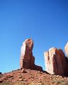 北米 アメリカの砂漠 モニュメントバレー アリゾナ州 奇岩