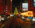 26:中国銀行ビル 旧香港督憲府 セントラル地区 夜景 噴水