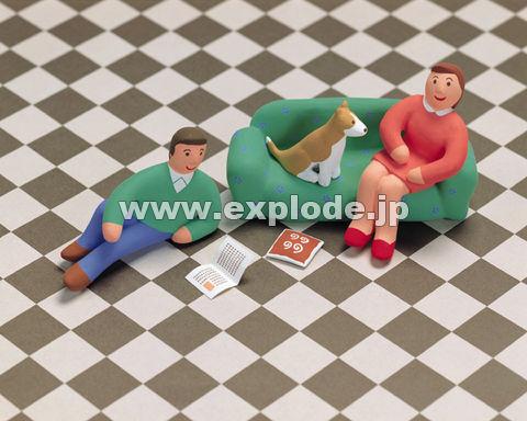 35:人形 家族 インテリア