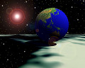 046:CG 地球と宇宙空間のイメージ