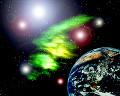 047:CG 地球と宇宙空間のイメージ