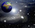 048:CG 地球と宇宙空間のイメージ