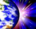 049:CG 地球と宇宙空間のイメージ