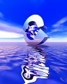 002:海 空 地球 リサイクル 青