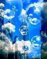 005:空 雲 球体 青