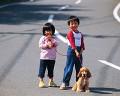 004:男の子 女の子 犬(コッカー・スパニエル)