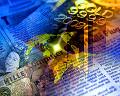 金塊 世界地図 紙幣 新聞