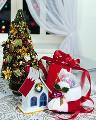 クリスマスツリー ミニチュアハウス ブーツ