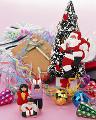 クリスマスツリー プレゼント サンタクロース 子供の人形 クラッカー
