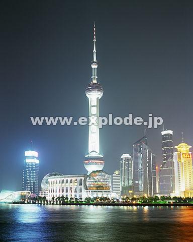 005: 上海 東方明珠 浦東地区 黄浦江
