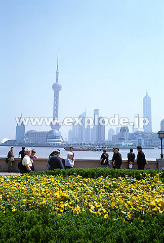 008: 上海 東方明珠 浦東地区 外灘(バ ンド ワイタン)より