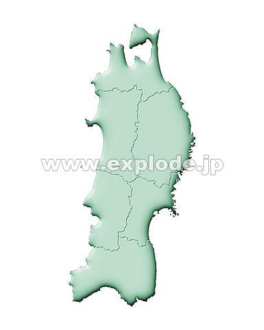 094: 日本地図 東北地方 ...