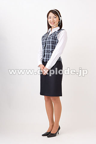 OL 制服 インカム - MIX93089.jpg - 写真素材