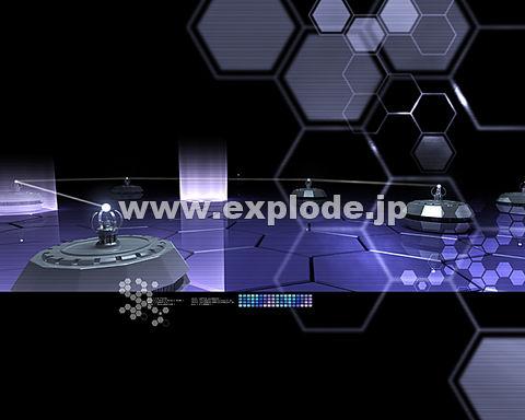040:茶釜上の物体 光線 六角形