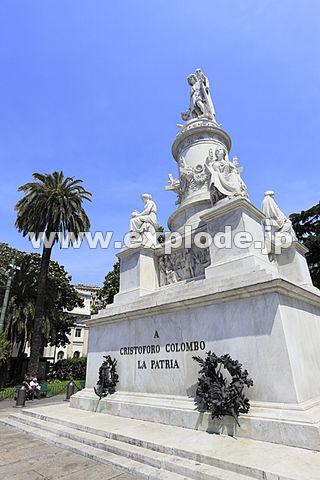 イタリア ジェノヴァ コロンブスの像