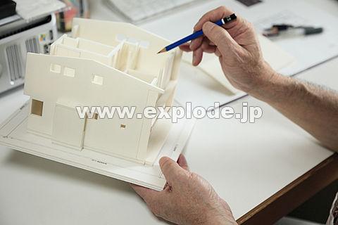 模型を作る手 建築事務所