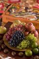 秋の果物とバーベキュー